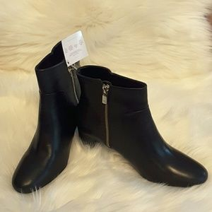 Taryn rose genuine leather with zipper close boots